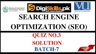 SEO Quiz-03 Solution | Batch 07 | Digiskills