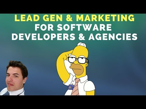 Lead Generation and Marketing for Software Developers & Agencies (which channels work?)