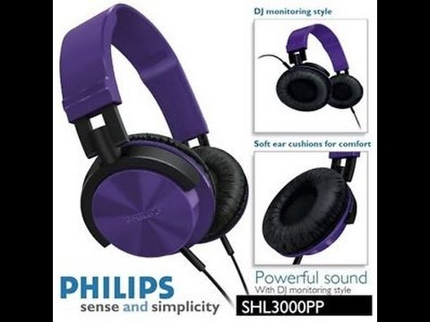 df00f36cd55 Philips SHL3000 Headphone Unboxing { Purple } - By Viggy - YouTube