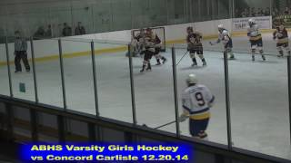 Acton Boxborough Girls Ice Hockey vs Concord Carlisle 12/20/14