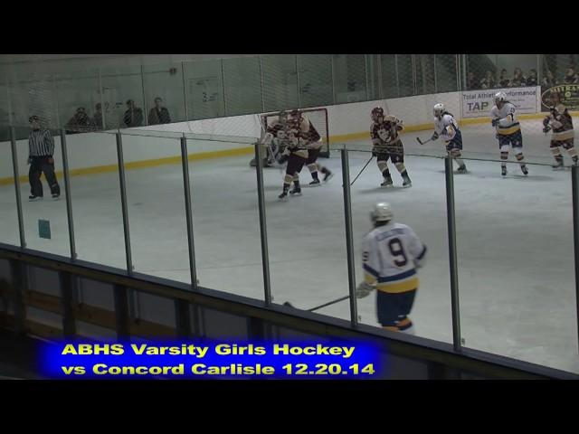 Acton Boxborough Girls Ice Hockey vs Concord Carlisle 12/20/14