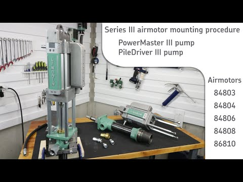 Lincoln PowerMaster III & PileDriver  airmotor install procedure
