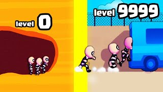 Escape Masters l IS THIS THE STRONGEST SMARTEST TUNNEL DIG EVOLUTION? (9999+ JAIL ESCAPE)