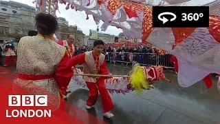 360° VIDEO: We put a camera on a dragon dancer - BBC London