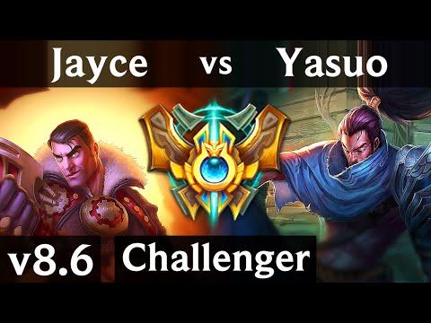 JAYCE vs YASUO (TOP) /// Korea Challenger /// Patch 8.6