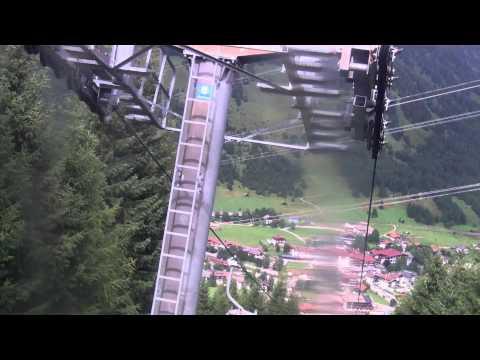 Lermoos HD-View of Lermoos station from Gondola skilift