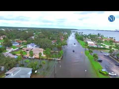 Looking Down Over A Flooded Daytona Beach
