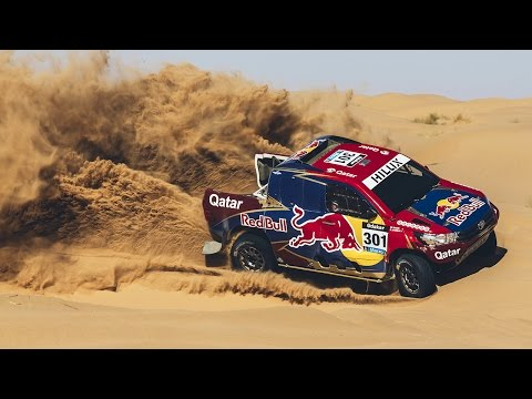 Time Dakar Winner Ripping Through Sand Dunes