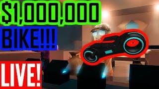 🔴$1,000,000 TRON BIKE!!! (RobloX JAILBREAK)🔴