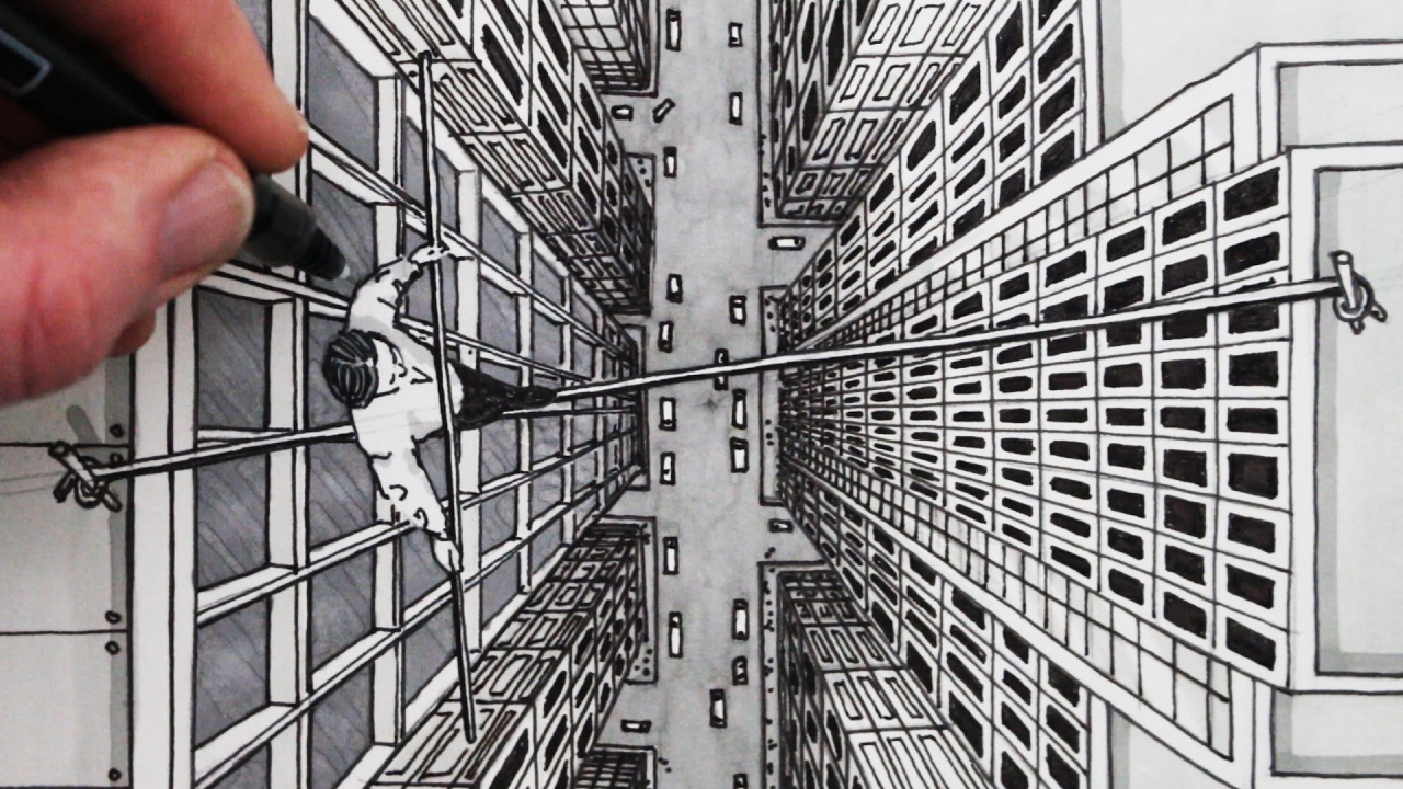 How To Draw Using 1 Point Perspective City Bird S Eye