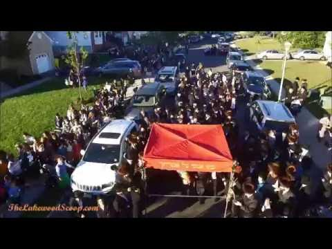 Drone aerial footage of Hachnosas Sefer Torah in County Line Manor