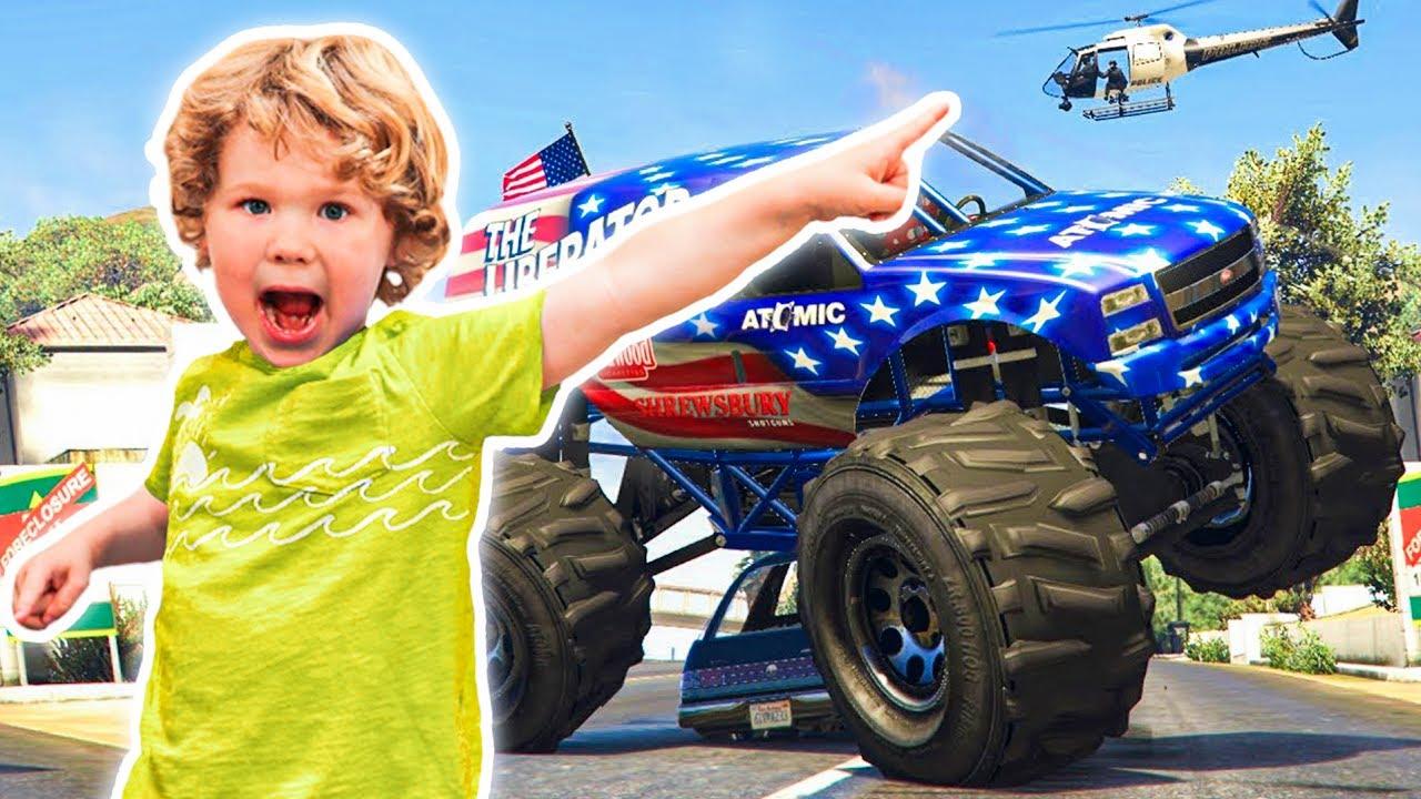 Monster Jam Videos For Children Monster Truck Toys For Kids To Play Youtube