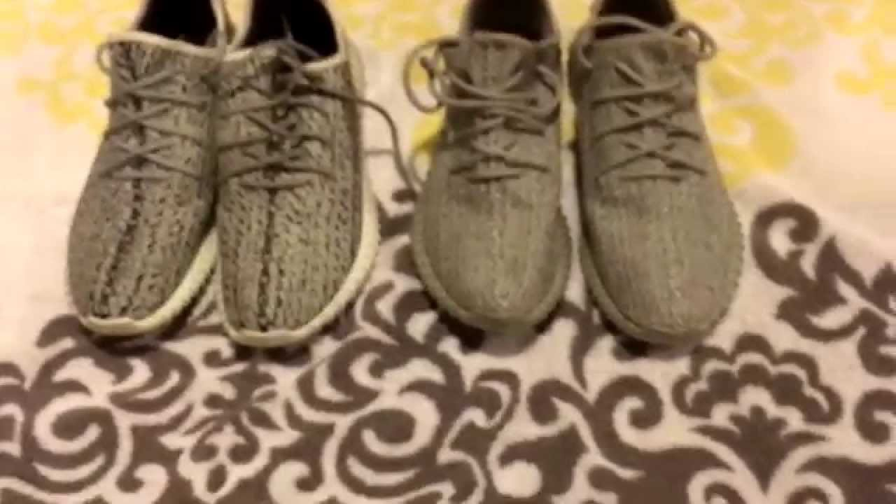 813e9c26a Yeezy 350 Boost REAL VS FAKE!  HD  - YouTube