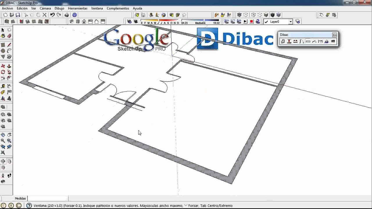 4/4 (FULL VIDEO) DIBAC Cad 2D+3D GOOGLE SKETCHUP Plugin ...