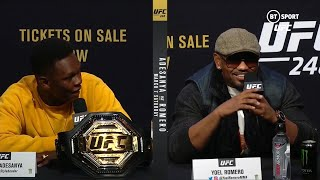 Amazing faceoff! UFC 248 Adesanya v Romero press conference best bits
