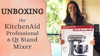 KitchenAid 6 Qt Professional Stand Mixer Unboxing