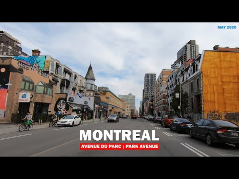 Driving In Montreal, Avenue Du Parc | Park Ave,  May 2020 (Canada)