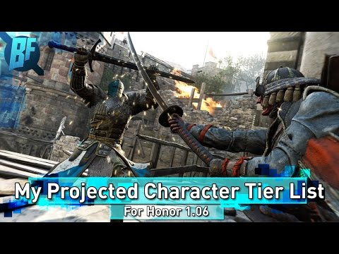 For Honor: Projected Character Tier List for Patch 1.06