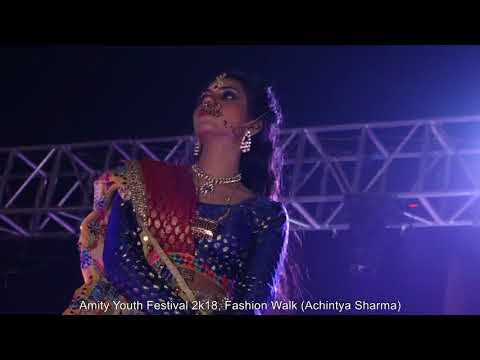 Amity Youth Festival 2018, Fashion Walk, Amity University, Noida