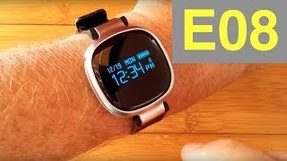 lemfo e08 ip67 smart watch fitness tracker unboxing and full review