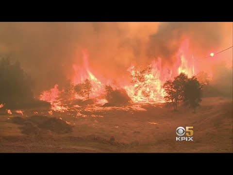 Winds Whip Up Wall Of Flames Destroying Homes In Lake County