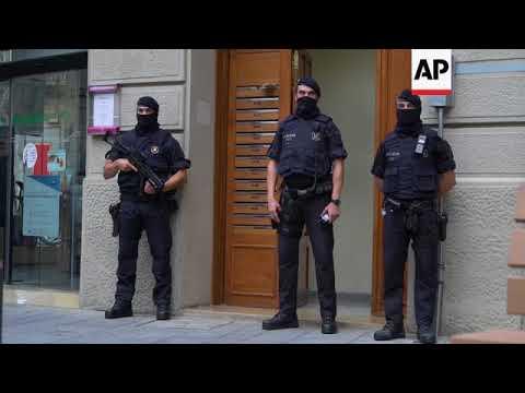 Spain - Van slammed into pedestrians in Barcelona's historic district, Las Ramblas