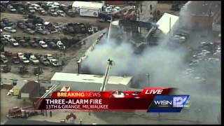 Fire collapses roof at Roz