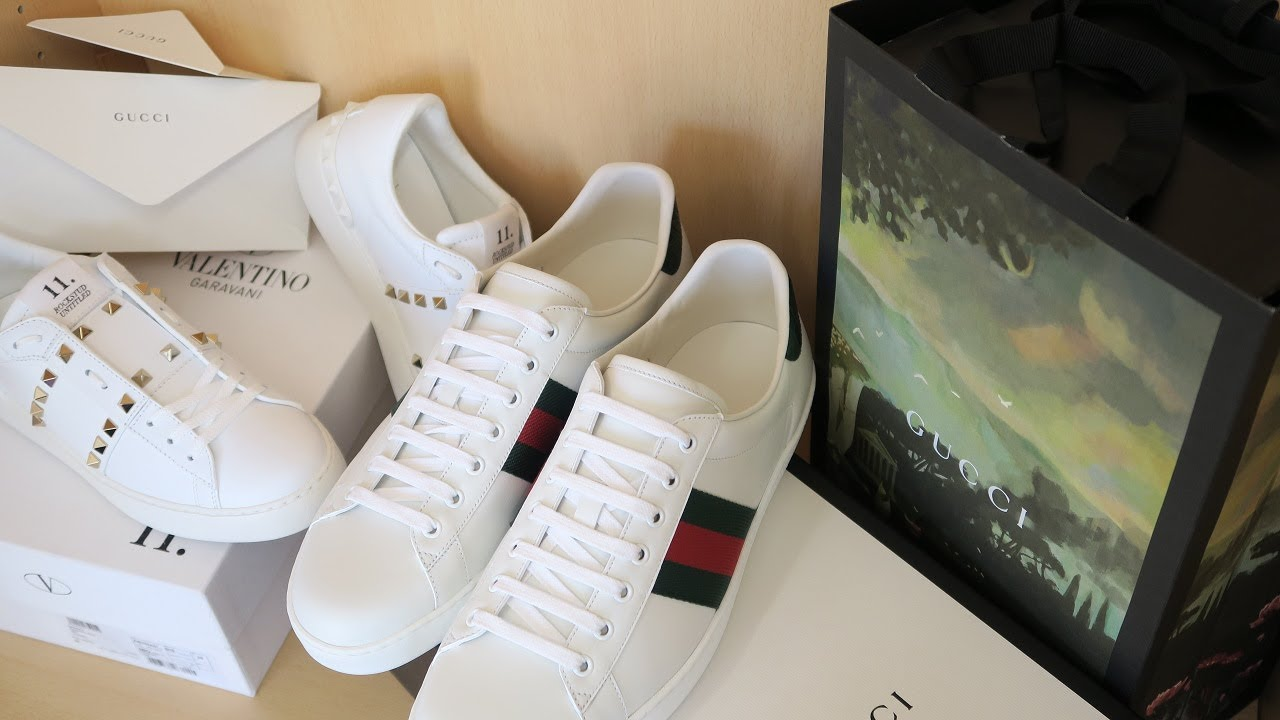 52c511b8727 Gucci Ace Sneakers   Valentino Rockstud Untitled 11 Review and Unboxing