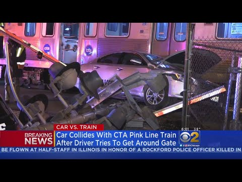 Car Hits CTA Pink Line Train In Cicero