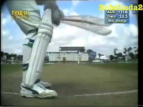 Ian Healy Throwing His Bat After He Was Given Out - Centurion Test 1997