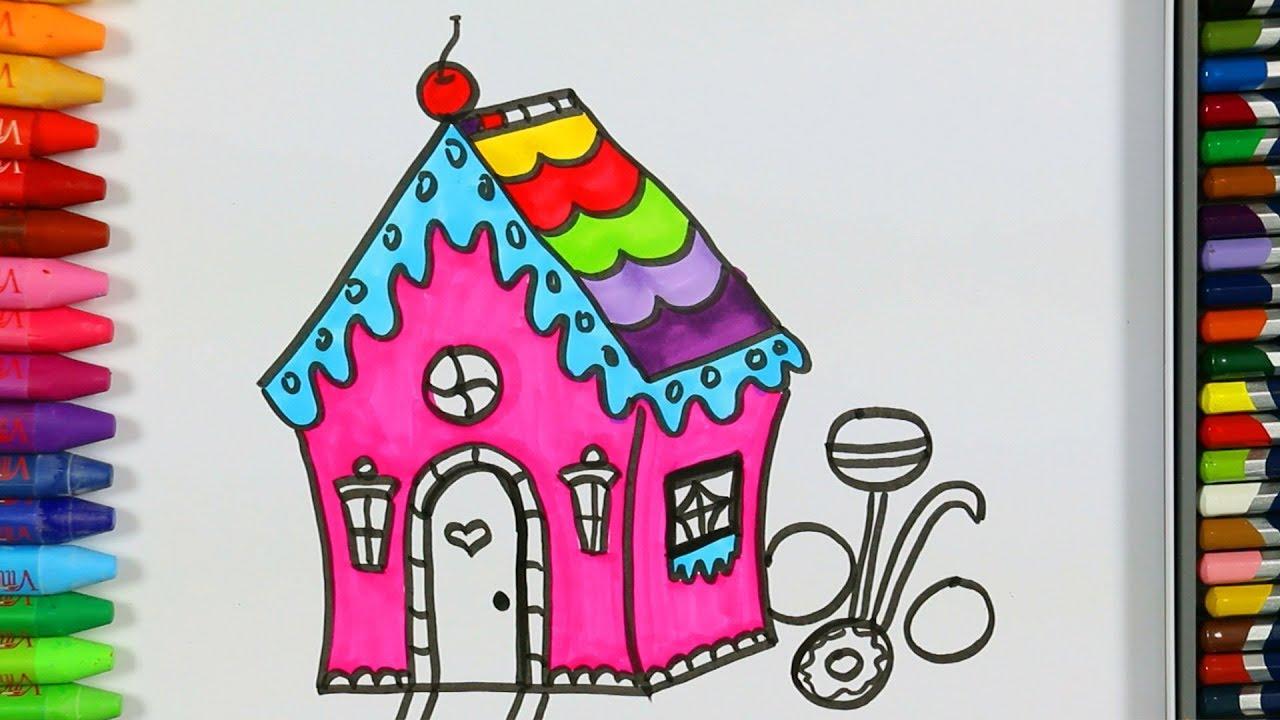 Colorido Casa Para Colorear Cómo Dibujar Una Casa Colorida Aprende Los Colores