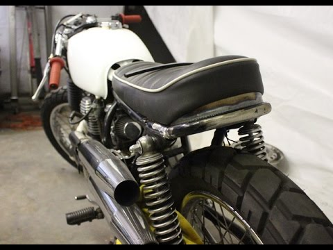 Honda Cl360 Cafe racer rear hoop install YouTube