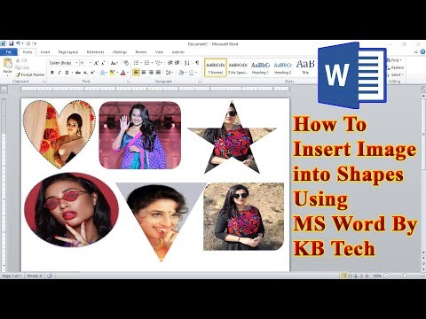 How To Insert Image Into Shapes Using Microsoft Word | KB Tech