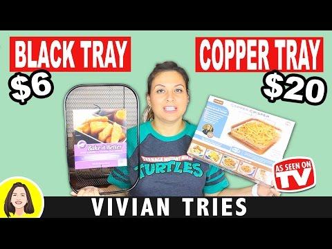 COPPER CHEF COPPER CRISPER vs BLACK CRISPER TRAY | DOES IT WORK? VIVIAN TRIES