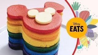 Rainbow Mickey Pancakes  Disney Eats