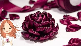 видео уроки как сделать из атласных лент цветы