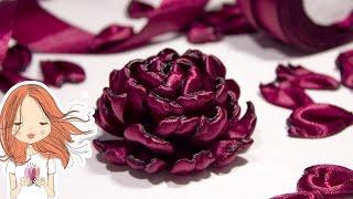 Цветы из атласных лент | Kulikova Anastasia