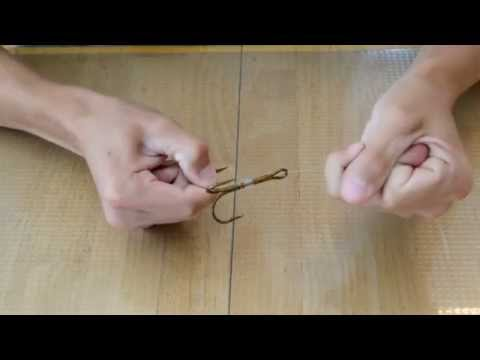 How To Tie A Snell Knot On A Treble Hook