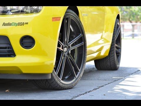 "Chevy Camaro 2014 on 22"" Koko Kuture Massa 5 black(by Giovanna wheels)"