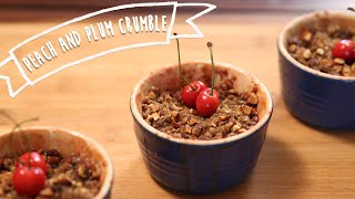 Peach & Plum Crumble | Easy Breakfast / Dessert Recipe | Kiddie's Corner With Anushruti