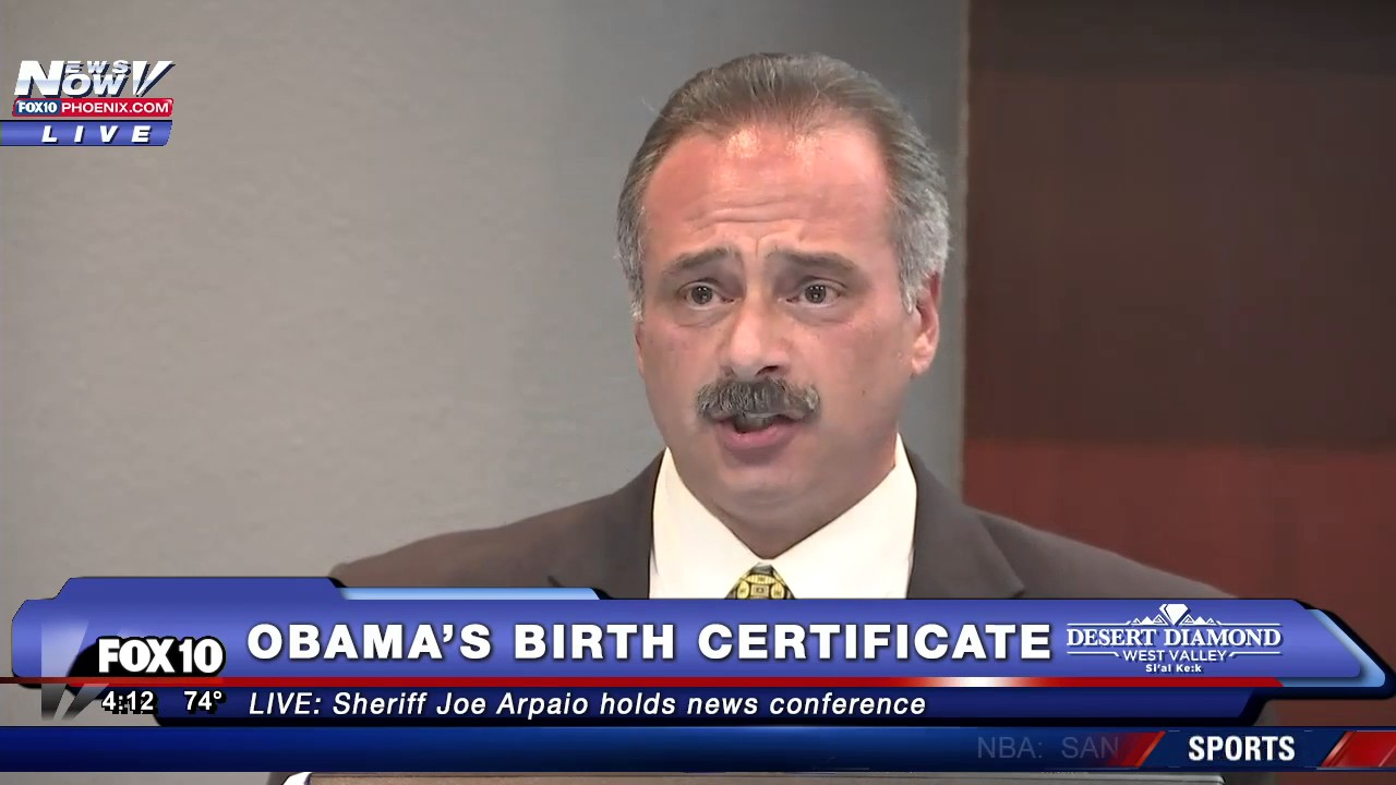 Wow sheriff joe arpaio releases new information on president wow sheriff joe arpaio releases new information on president obamas birth certificate aiddatafo Images