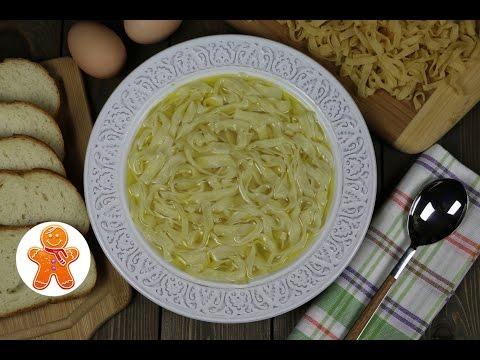 Как приготовить домашнюю лапшу для куриного супа видео рецепт