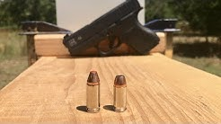 9MM VS 380 VS SHEET METAL - GLOCK 43 VS GLOCK 42