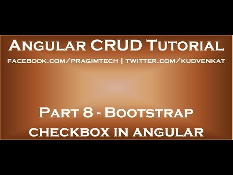 Bootstrap checkbox in angular
