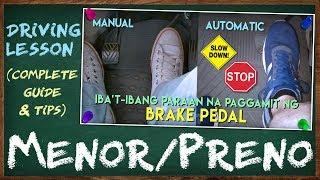 Paano Magmenor at Magpreno Gamit ang Brake Pedal at Iba pang Uri ng mga Brakes ng Sasakyan