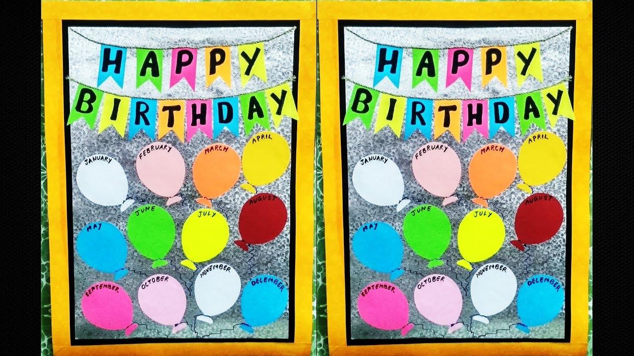 Birthday Chart For Classroom L Bulletin Board Ideas