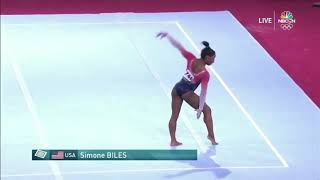 Simone Biles Floor Team Final 2019 World Championships