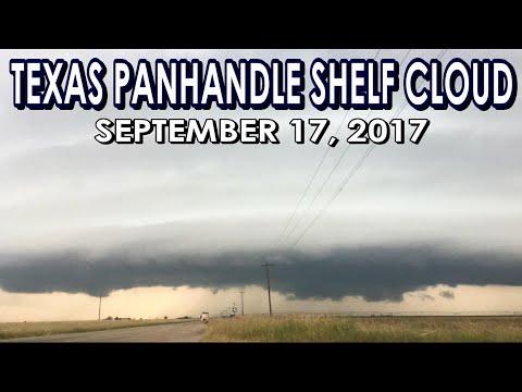 Severe Storms with Shelf Cloud near Hale Center, TX 9/17/17