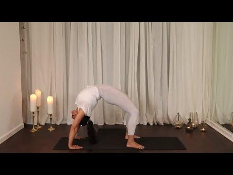 yoga urdhva dhanurasana wheel pose tutorial  youtube