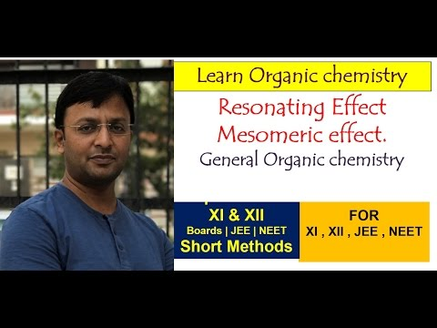 Resonating effect / Resonance / Mesomeric effect for JEE , NEET , CBSE & state boards-Organic